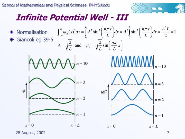 Infinite Potential Well - III