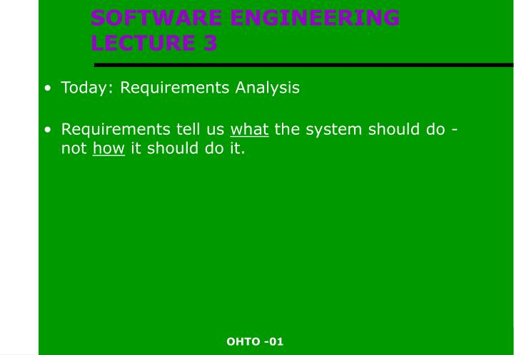 software engineering lecture 3