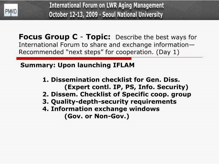 Focus Group C