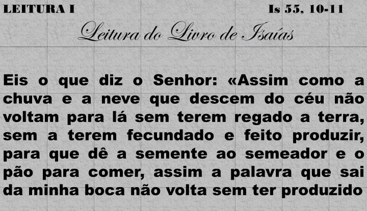 LEITURA I
