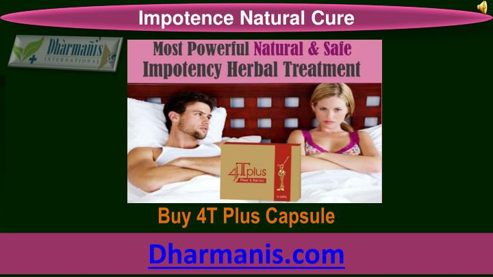Impotence Natural Cure