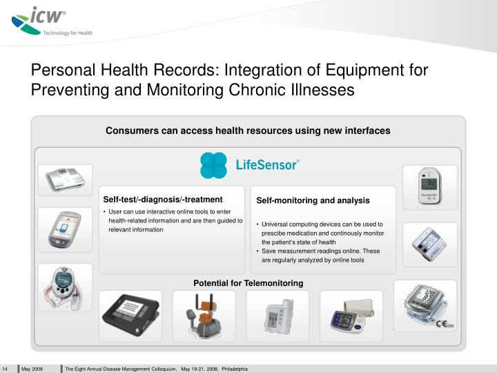 Personal Health Records: Integration of Equipment for Preventing and Monitoring Chronic Illnesses