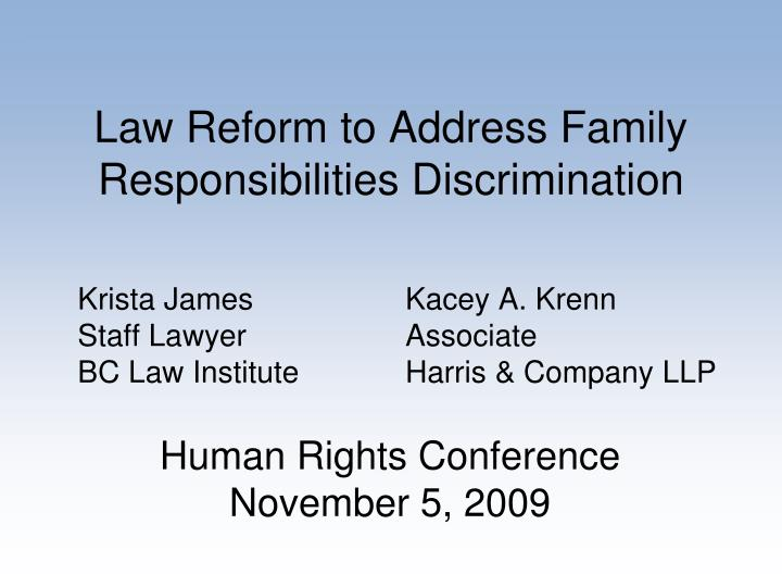 family responsibility discrimination essay By craig m brooks the us equal employment opportunity commission (eeoc) is out drumming up business in a new area - family responsibility discrimination - involving employment discrimination against caregivers, such as pregnant female employees or employees seeking leave to care for children or parents.