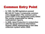 common entry point