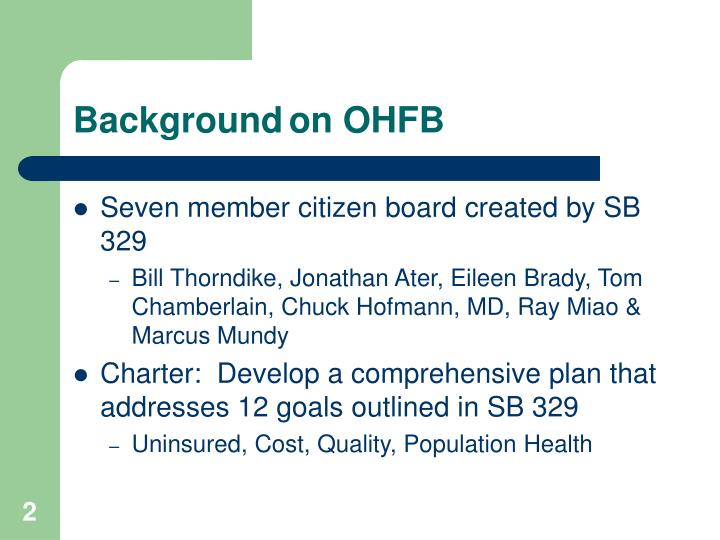 Background on ohfb