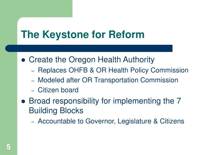 The Keystone for Reform