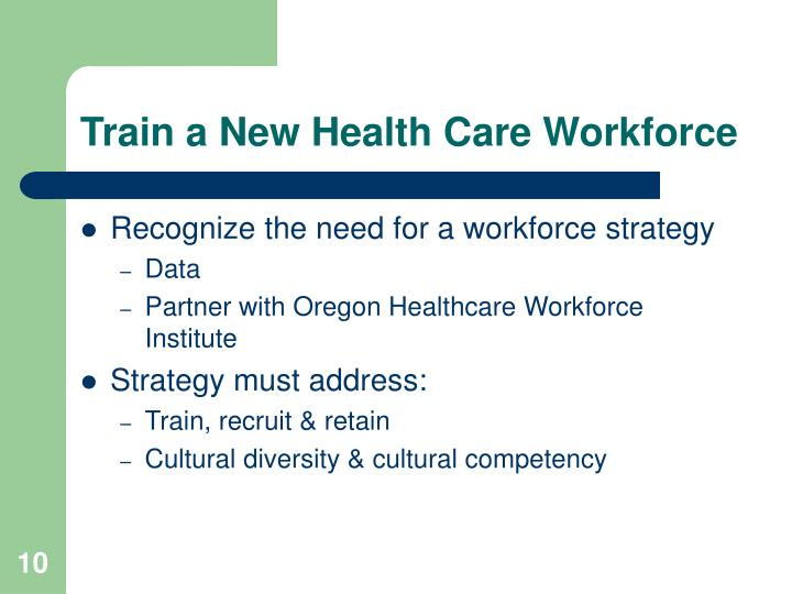 Train a New Health Care Workforce
