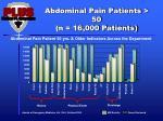 abdominal pain patients 50 n 16 000 patients