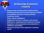 achieving customer loyalty
