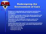redesigning the environment of care