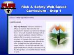 risk safety web based curriculum step 1