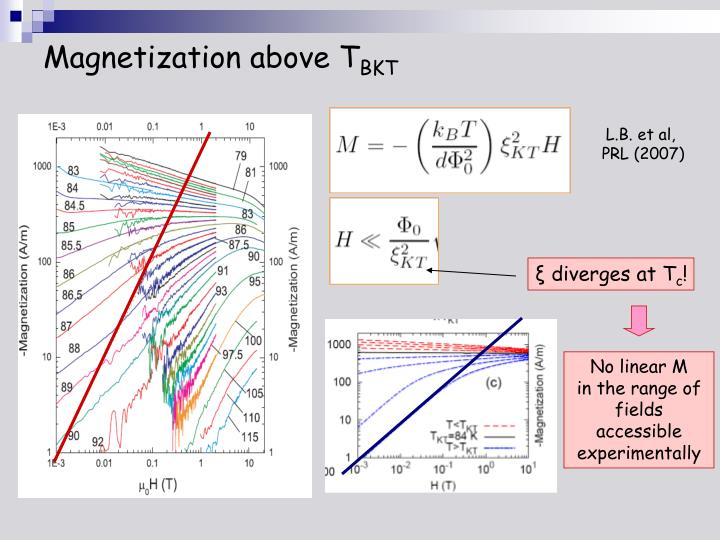 Magnetization above T