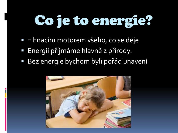 Co je to energie?