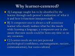 why learner centered