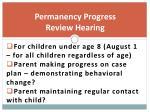 permanency progress review hearing