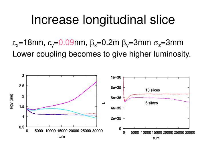 Increase longitudinal slice