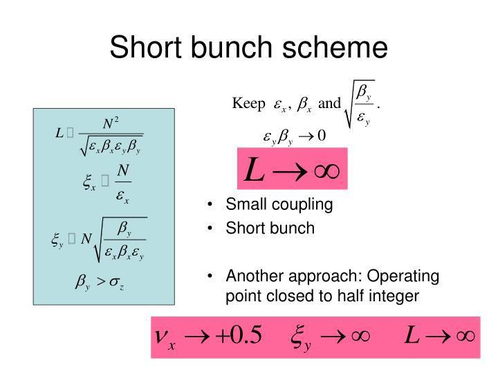 Short bunch scheme