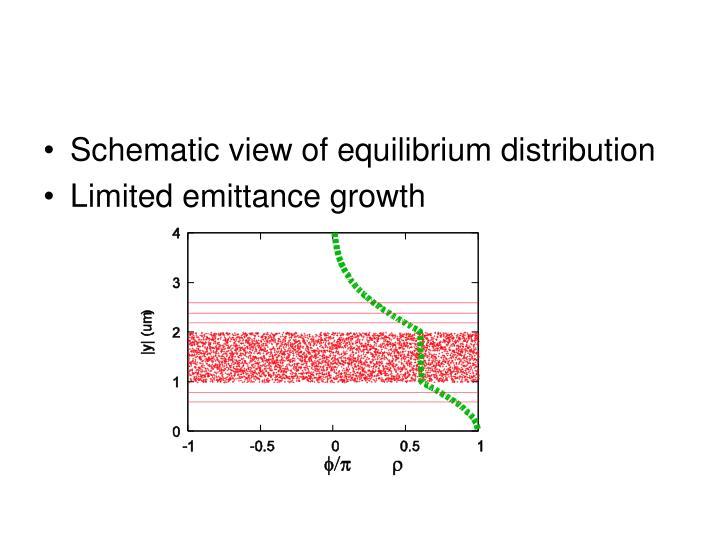 Schematic view of equilibrium distribution