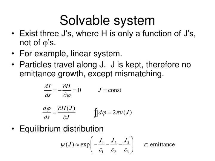 Solvable system