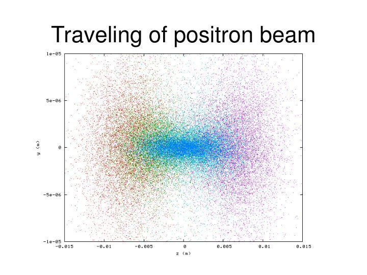 Traveling of positron beam