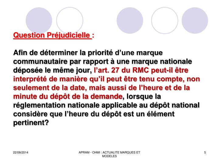 Question Préjudicielle