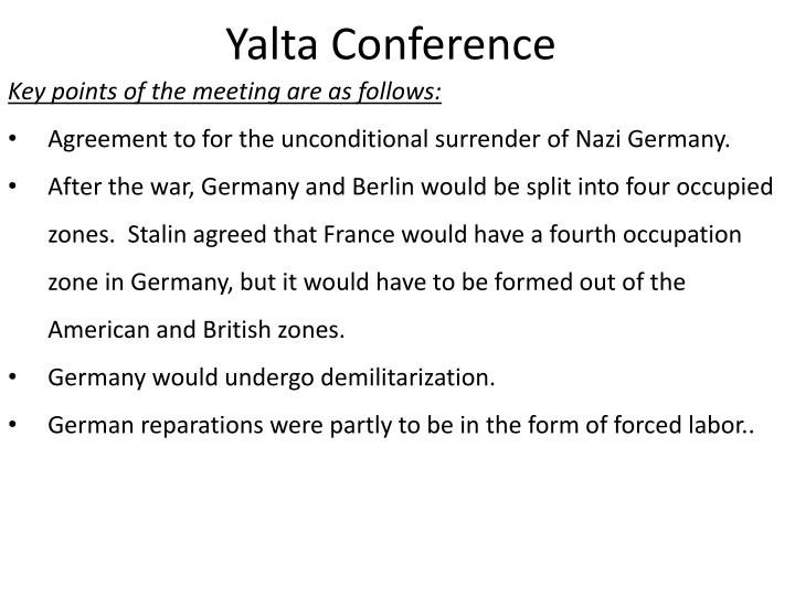 Ppt Yalta Conference Powerpoint Presentation Id4664678