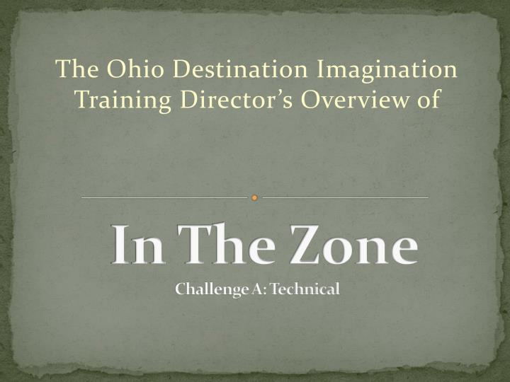in the zone challenge a technical n.