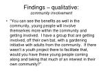 findings qualitative community involvement