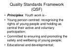 quality standards framework qsf
