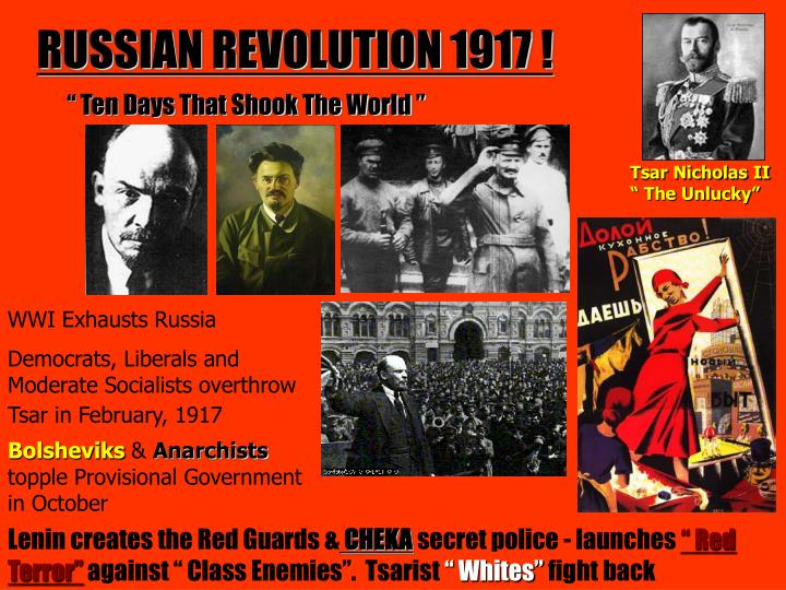 """causes for and consequences from the russian bolshevik revolution of 1917 How unrest exploded in 1917 – with help from russia's  what caused the russian revolution  rule the bolshevik regime was distinctly russian,"""" orlando."""