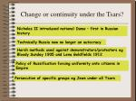 change or continuity under the tsars1
