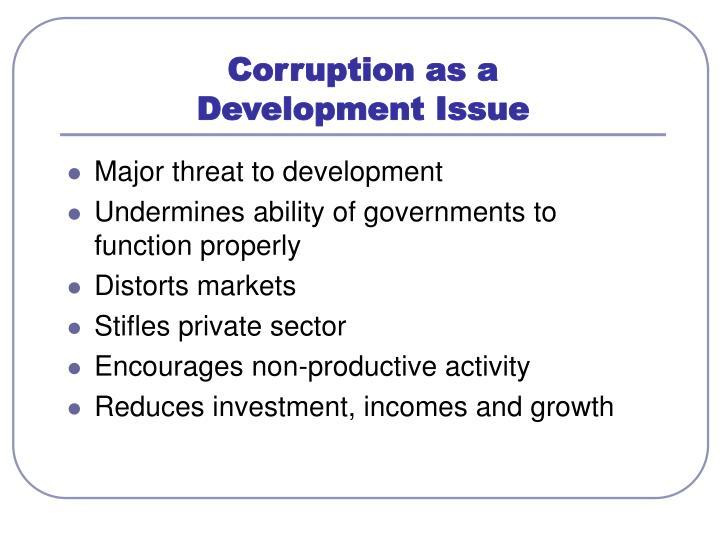 Corruption as a