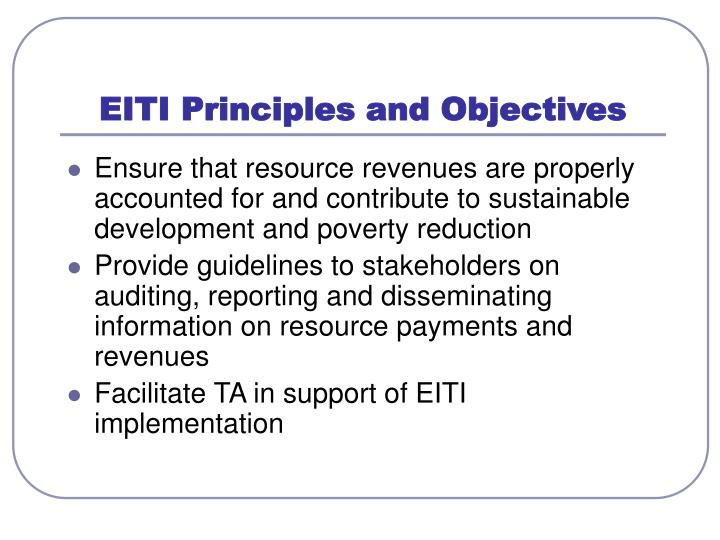 EITI Principles and Objectives