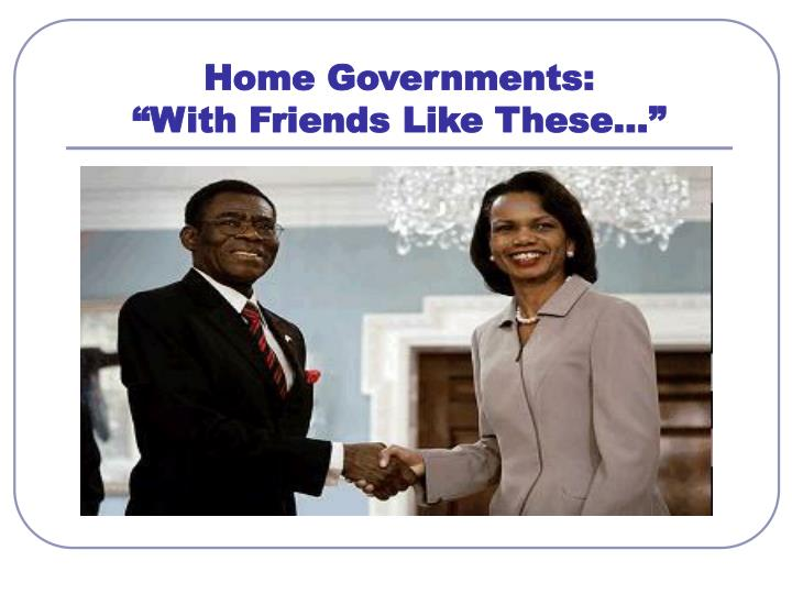 Home Governments: