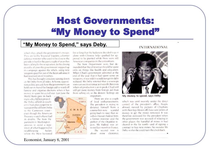 Host Governments: