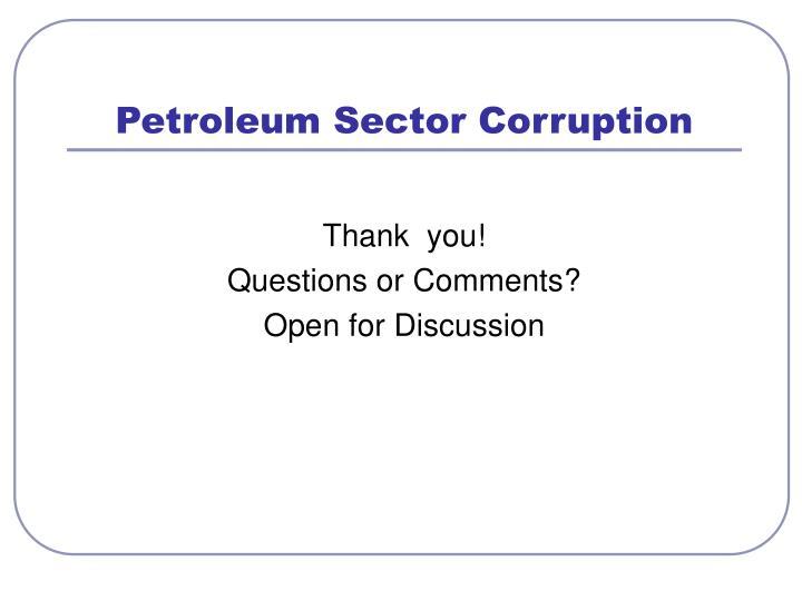Petroleum Sector Corruption