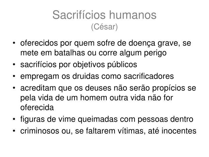 Sacrifícios humanos