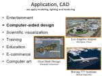 application cad we apply modeling lighting and rendering