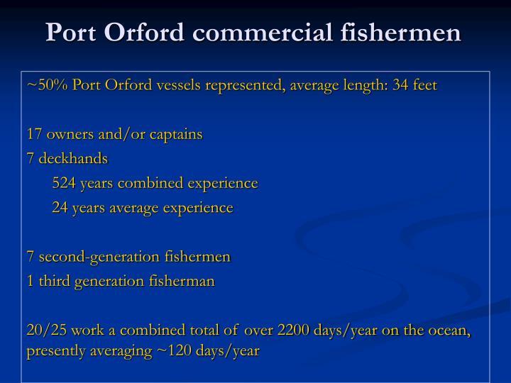 Port Orford commercial fishermen