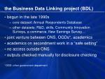 the business data linking project bdl
