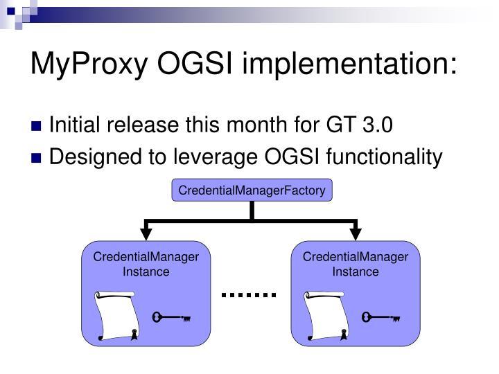 MyProxy OGSI implementation: