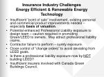 insurance industry challenges energy efficient renewable energy technology1