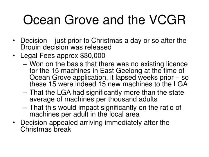 Ocean Grove and the VCGR