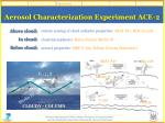 aerosol characterization experiment ace 21