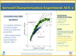 aerosol characterization experiment ace 22