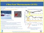 ultra fast thermometer uft