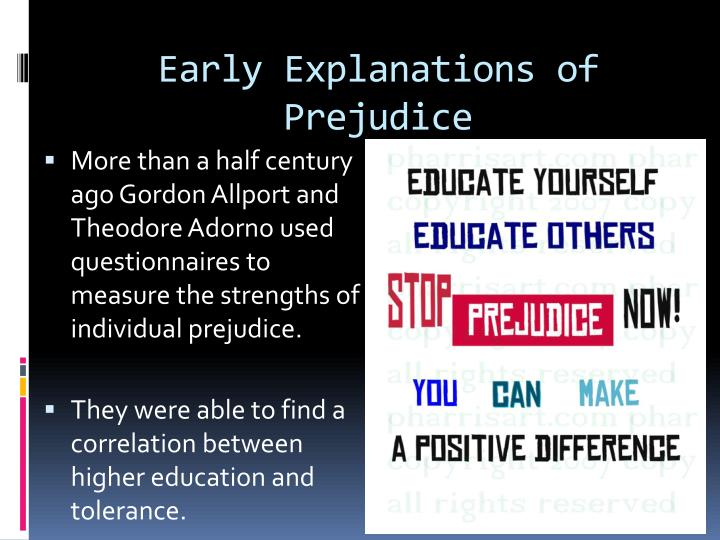 Early explanations of prejudice
