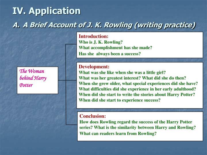 IV. Application