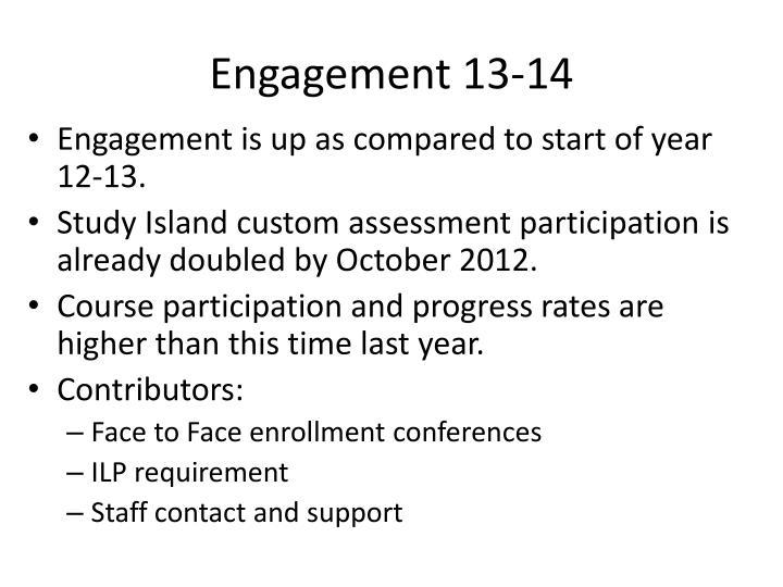 Engagement 13-14