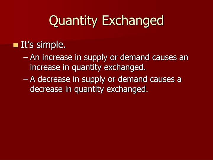 Quantity exchanged